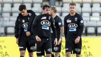 Die Aarauer sind enttäuscht über die dritte Niederlage in Folge.
