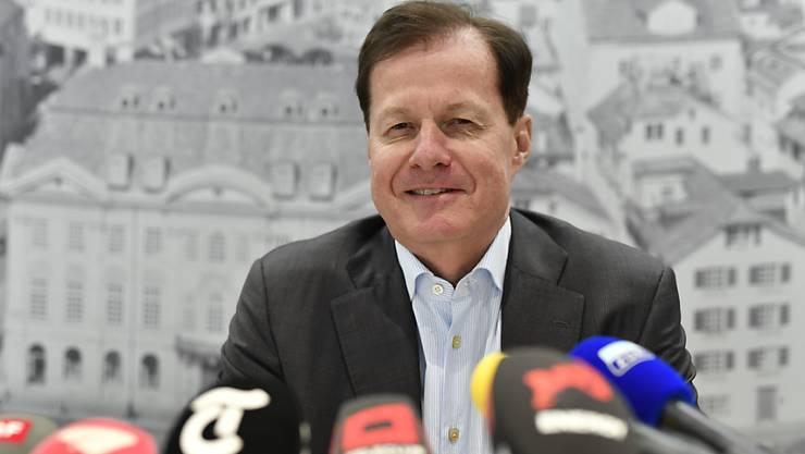Will GC vor dem Abstieg retten: Der designierte GC-Präsident Dr. Stephan Rietiker stellt sich den Medien vor