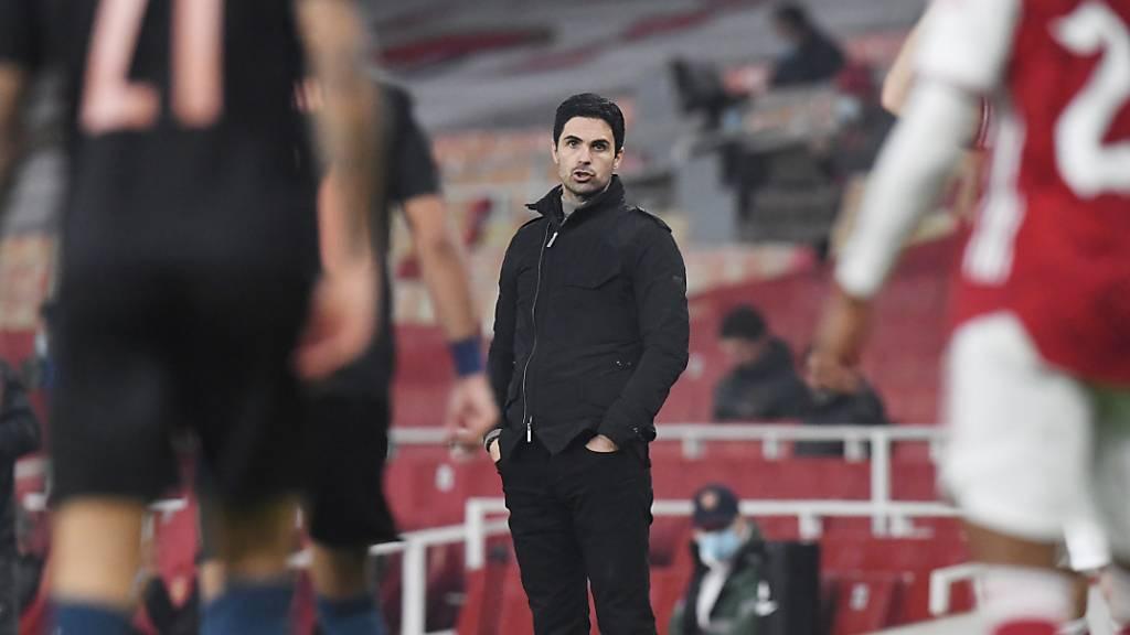 Arsenals Trainer Mikel Arteta sieht auch im Ligacup wenig Erbauliches von seiner Mannschaft