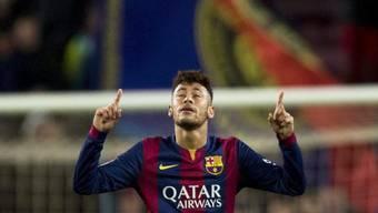 Barcelonas Neymar nach seinem Ausgleichstreffer zum 1:1