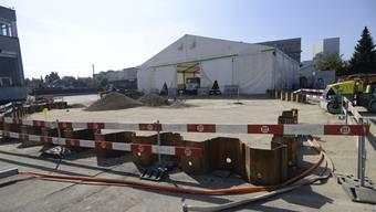 Altlastenarbeiten bei der ehemaligen Tubenfabrik auf dem Scintilla-Areal