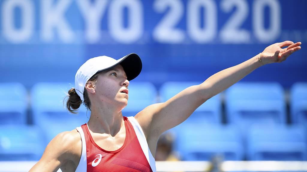 Immerhin fünf Aufschlagspiele brachte Viktorija Golubic durch - einen Breakball vergab sie