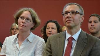 Susanne Michels und Holger Frehoff nehmen Abschied von Zuzgen. FIH