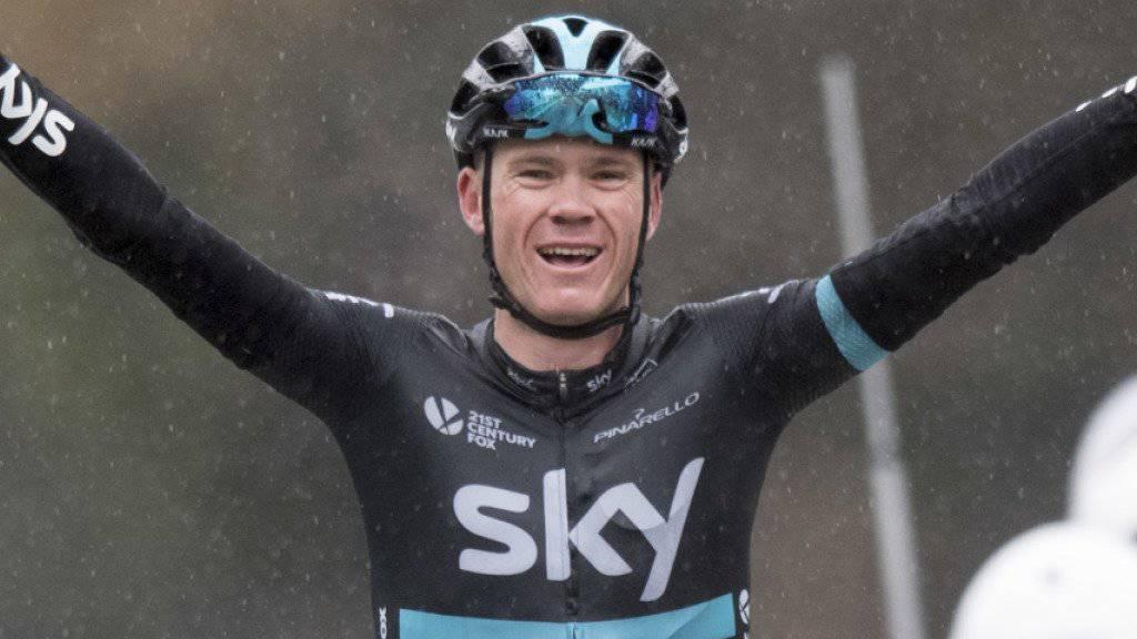 Der Brite Chris Froome sichert sich zum dritten Mal nach 2013 und 2015 den Gesamtsieg im Critérium du Dauphiné