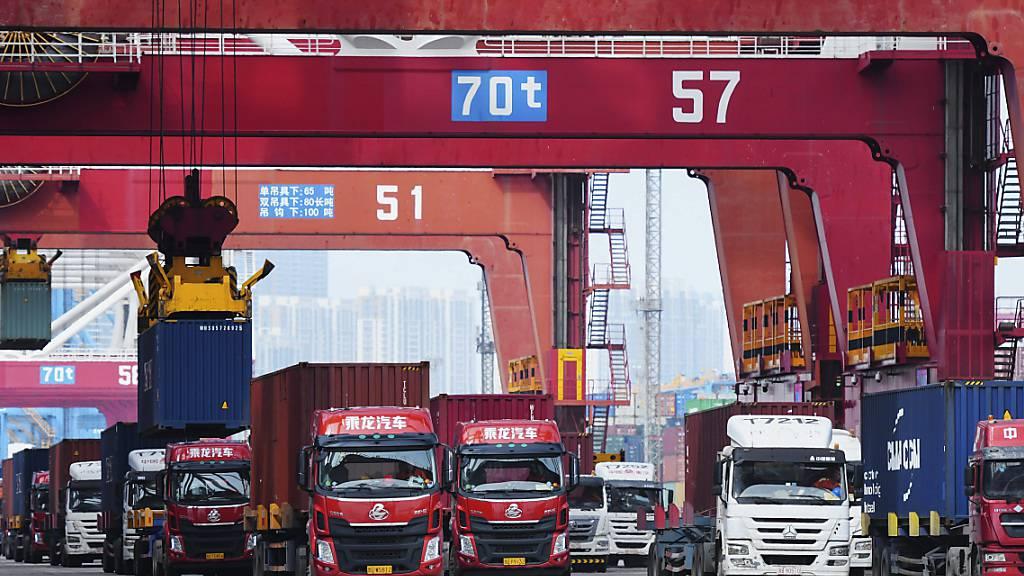 Chinas Exporte sind im August schneller als erwartet gestiegen. (Archiv)