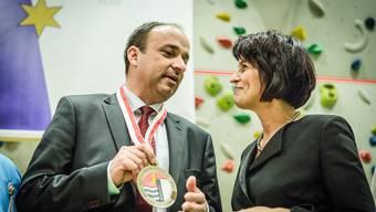 Höchster Aargauer: Wettingen feiert den frisch gewählten Markus Dieth