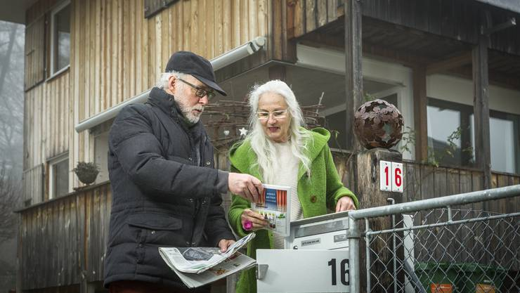 Hannah und Walter Richner aus Benzenschwil, welche die Petition gestartet haben.