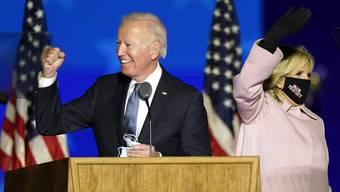 Joe Biden ist so gut wie durch: Im Januar dürfte er ins Weisse Haus einziehen.