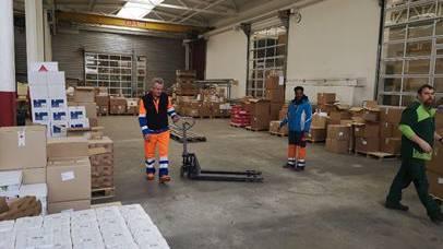 2x Weihnachten – insgesamt werden mehr als 11 Tonnen Ware an die Bedürftigen im Kanton Solothurn verteilt.