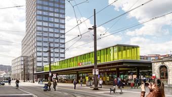 Oerlikon ist der siebtgrösste Bahnhof der Schweiz.