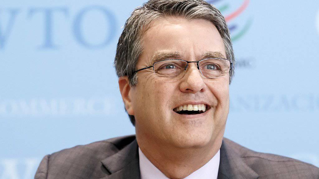 Startet mit Rückenwind in zweite Amtszeit: WTO-Generaldirektor Roberto Azevedo bei der Medienkonferenz zum Inkrafttreten des Abkommens über Handelserleichterungen - einem langersehnten Erfolg für die Welthandelsorganisation.