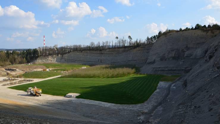 Die Jura Cement Fabriken wollen den Steinbruch im Gebiet Oberegg in westlicher Richtung um eine 1,9 Hektaren grosse Waldparzelle erweitern, die im Besitz der Ortsbürger ist.