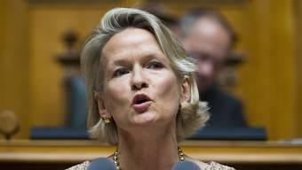 """Andrea Gmür (CVP/LU) hat im Nationalrat in Reimen für Geschlechterrichtwerte geworben. Das Thema """"Frauenquote"""" prägte die Eintretensdebatte zur Aktienrechtsrevision. (Archivbild)"""