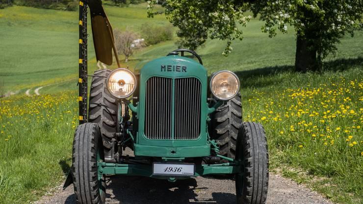 Fritz Morgenegg aus Zetzwil hat einen historischen Meier-Traktor restauriert, der 1936 in Berikon gebaut worden ist