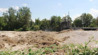 Hochwasser der Emme - Situation in Biberist