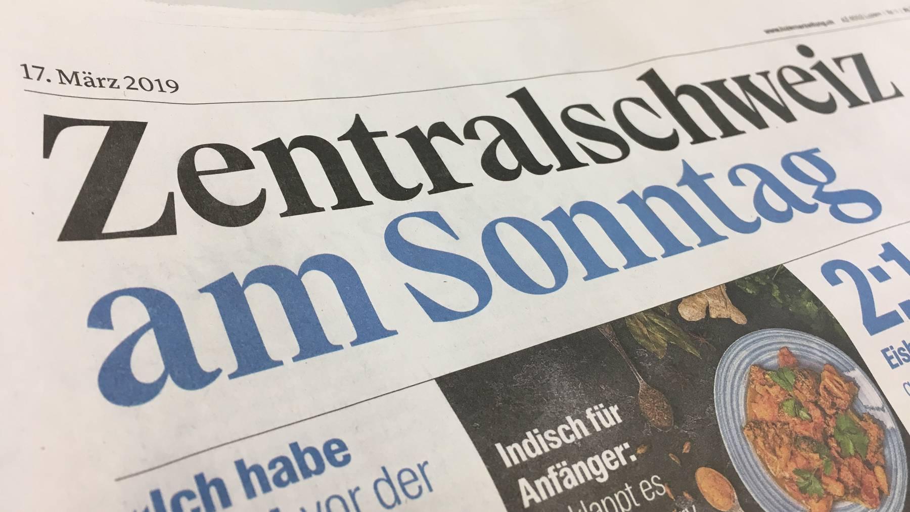 Das letzte Mal «Zentralschweiz am Sonntag»