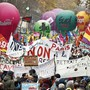 Demonstration gegen die Rentenreform in Paris.
