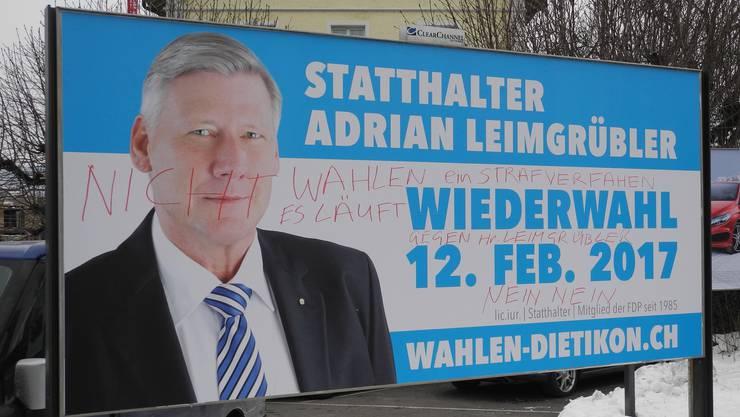 Der bisherige Statthalter Adrian Leimgrübler hat einen turbulenten Wahlkampf hinter sich. Schafft er die Wiederwahl?