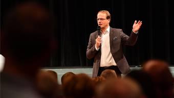 Genetiker Markus Hengstschläger sprach im Stadttheater auf Einladung des Industrie- und Handelsvereins über mangelnde Talentförderung in den Schulen.