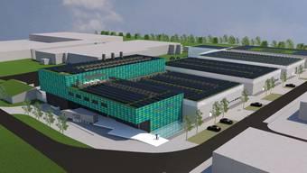 Strom vom Dach: Das neue Produktionsgebäude soll Regenwasser und Sonnenenergie nutzen und so eine ökologische Produktion ermöglichen.