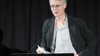 Der Autor Michel Layaz bedankt sich am 16. Februar 2017 in Bern für den Schweizer Literaturpreis 2017. (Archiv)