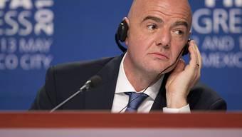 Stand zuletzt immer wieder in der Kritik: FIFA-Präsident Gianni Infantino