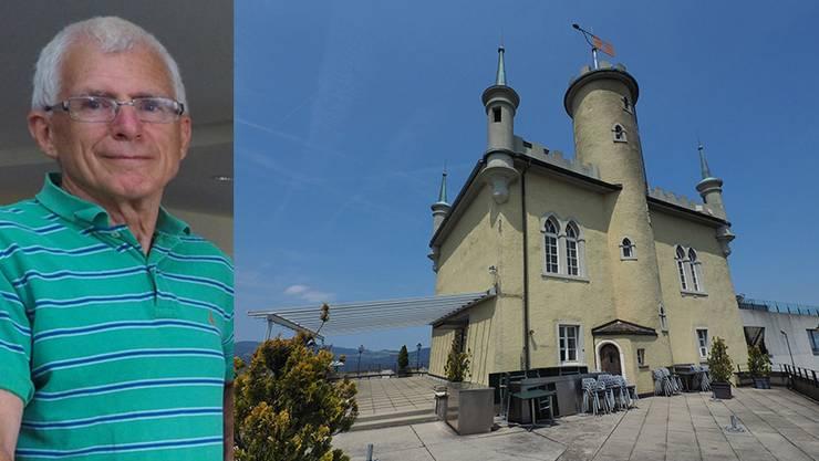 Schon bald wird auf dieser Terrasse wieder grilliert, gegessen und getrunken. Georg Schellenberg führt das Restaurant.