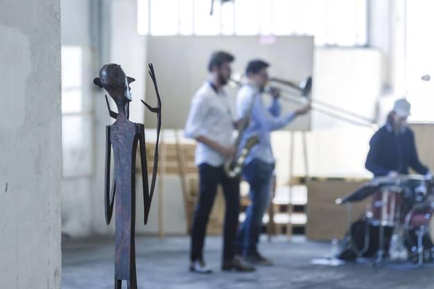 Das Trio Pfistermen's Friends umrandet den Anlass musikalisch