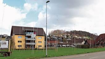 Neben der Holzikerstrasse ist heute noch eine Wiese. Bald könnte hier eine Siedlung mit 32 Wohnungen stehen.