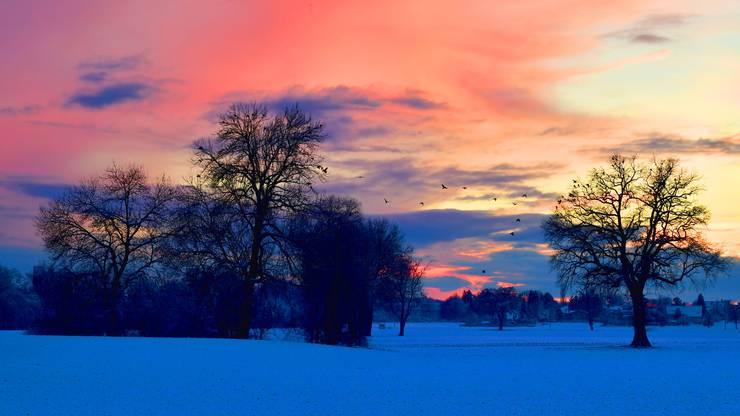 Nachdem schon in der Nacht Frau Holle ihre Decken ausschüttelte und einen zarten Schneeschleier über die Region zauberte...