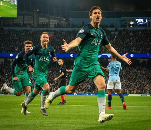 Fernando Llorente schoss Tottenham in den Halbfinal.