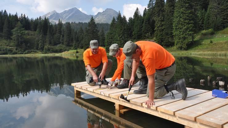 Gute Erfahrung: Zivilschützer im Einsatz am Lago Dosso.