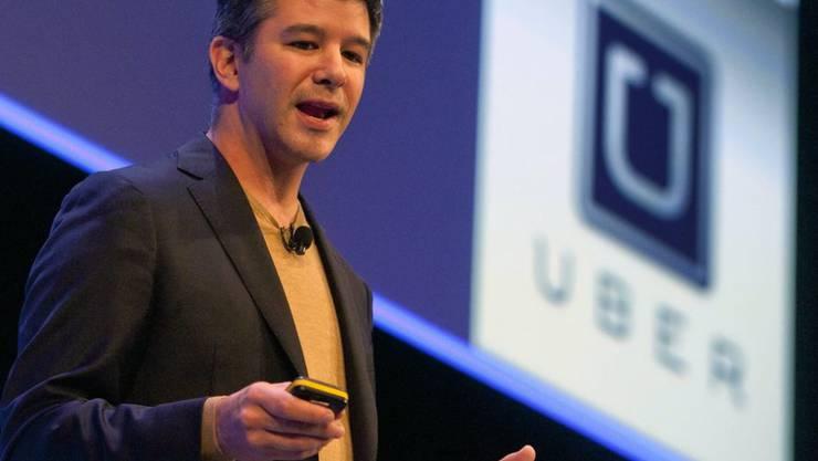 Uber-Chef Travis Kalanick will selbstfahrende Autos kommerziell nutzen. (Archiv)