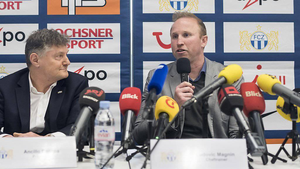 Der neue FCZ-Trainer Ludovic Magnin erklärt den Medien seine Philosophie