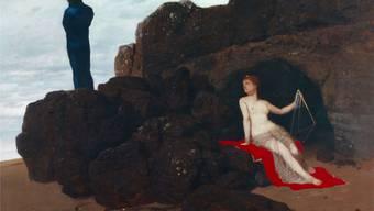 Arnold Böcklin: «Odysseus und Kalypso», 1882, Öl auf Mahagoniholz, 103,5×149,8 cm.