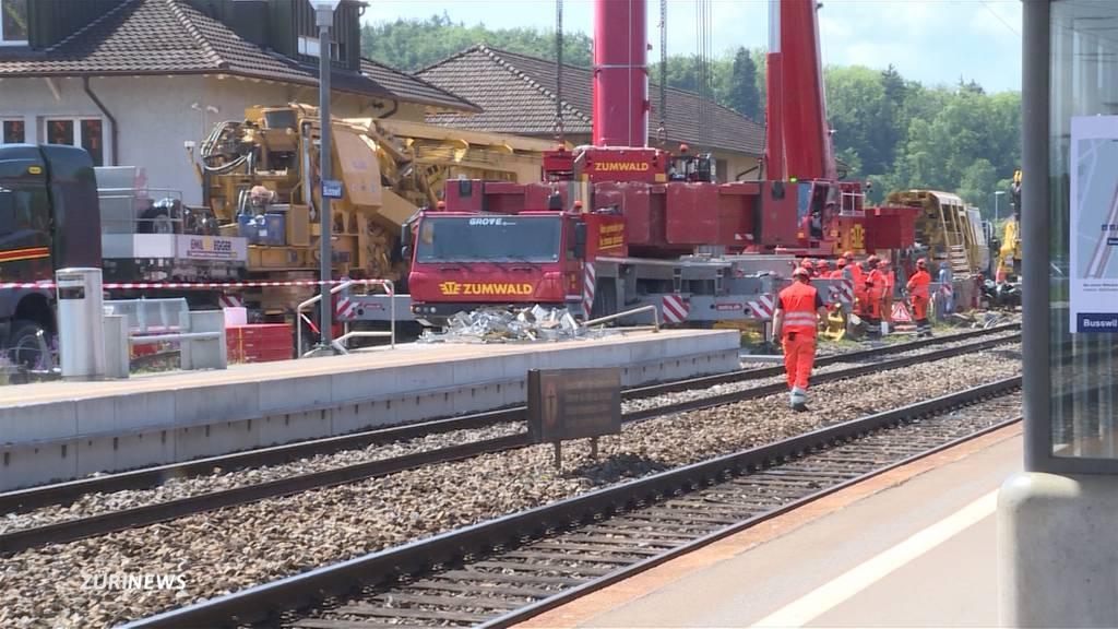 Entgleister Zug richtet in Busswil erheblichen Schaden an
