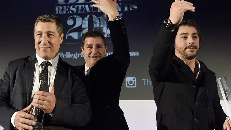 Die Sieger-Equipe des Restaurants El Celler de Can Roca bei der Preisverleihung