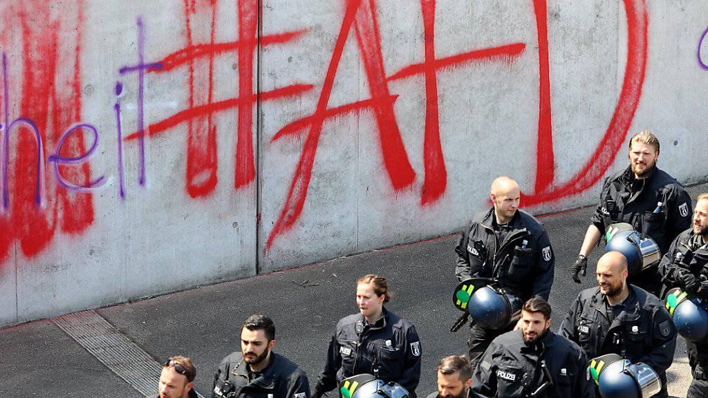 AfD-Graffiti in Berlin. (Archiv)