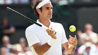 Muss in Halle gleich von Anfang an sein Rasenspiel finden: Roger Federer
