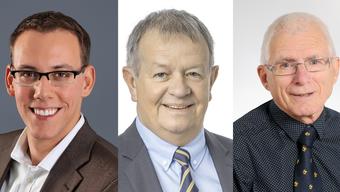Fabian Gloor (27), Theodor Hafner (64) und Georg Schellenberg (76)