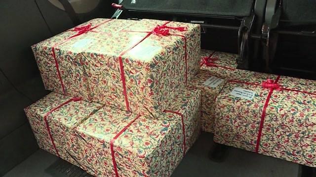 Weihnachtsgeschenke für die Armen in Osteuropa