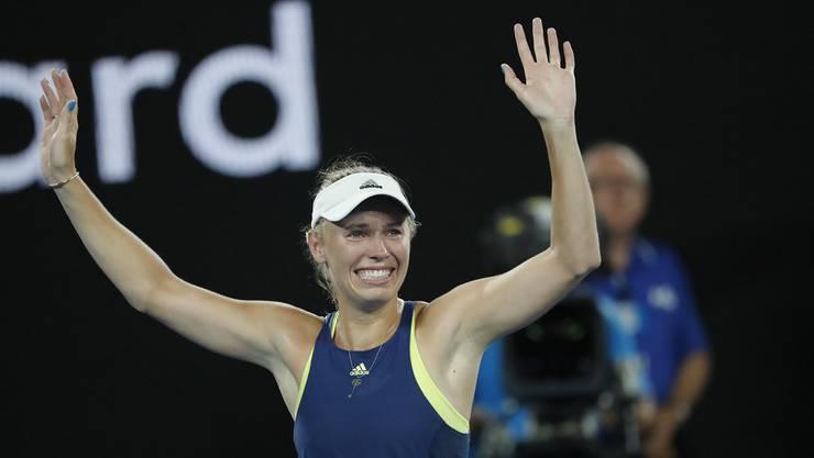 Wozniacki verwandelte vor 15.000 Zuschauern in der Rod-Laver-Arena nach 2:49 Stunden ihren ersten Matchball und krönte sich damit zum ersten Grand-Slam-Champion aus Dänemark.