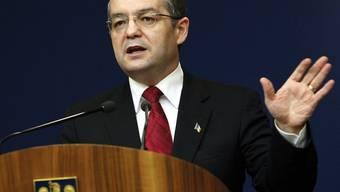 Emil Boc stellt dem Parlament die Vertrauensfrage (Archiv)