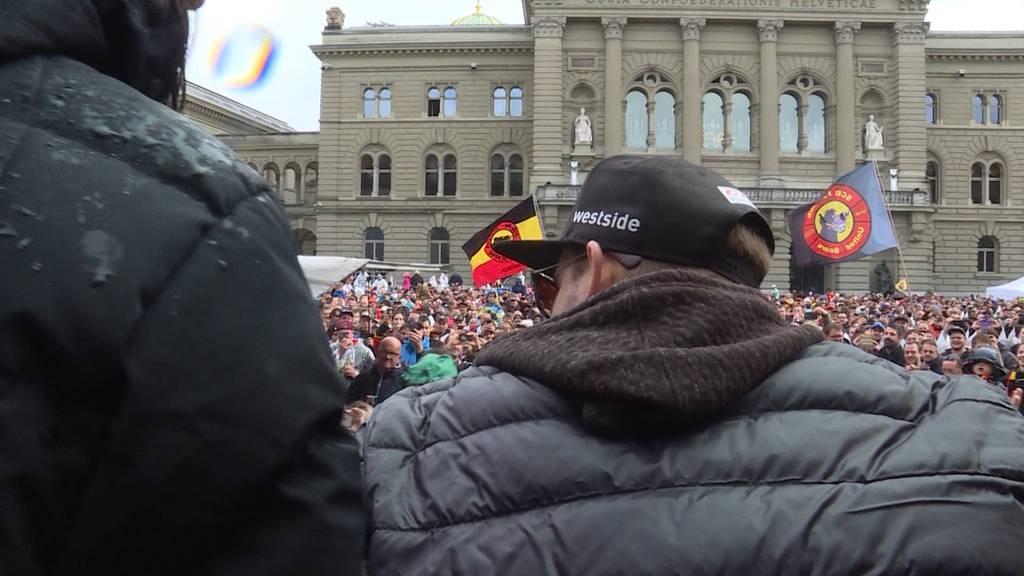 SCB-Feier auf dem Bundesplatz
