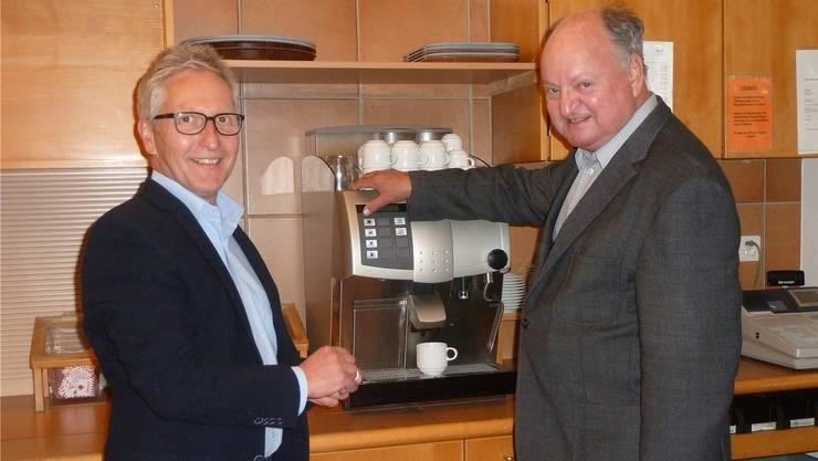 Geschäftsführer Beat Kobi und Stiftungsratspräsident Urs Bentz haben den Gastro-Betrieb aufgegeben.