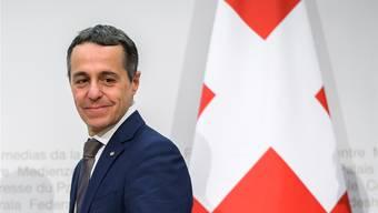 Wartet gespannt auf den Entscheid aus Brüssel: Ignazio Cassis. key