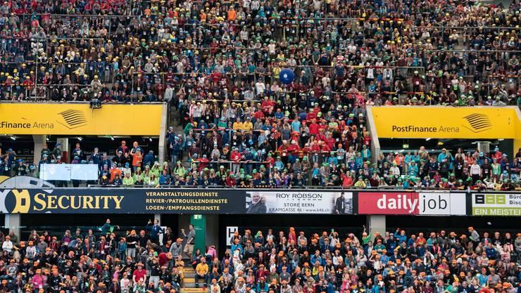 10 000 Jublaner am Jublaversum in der PostFinance Arena in Bern.