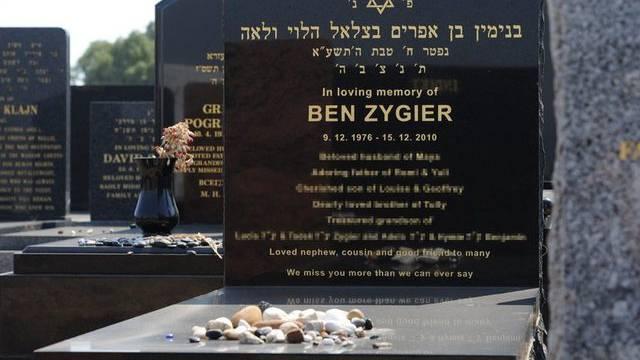 Sein Tod sorgt in Israel für Aufregung: Grabstein des Australiers Ben Zygier