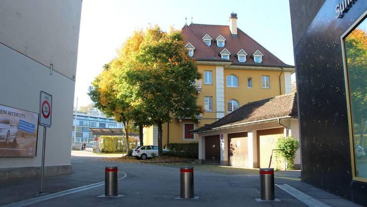 Hier befand sich die Steinmetzwerkstatt von Johannes Moser.
