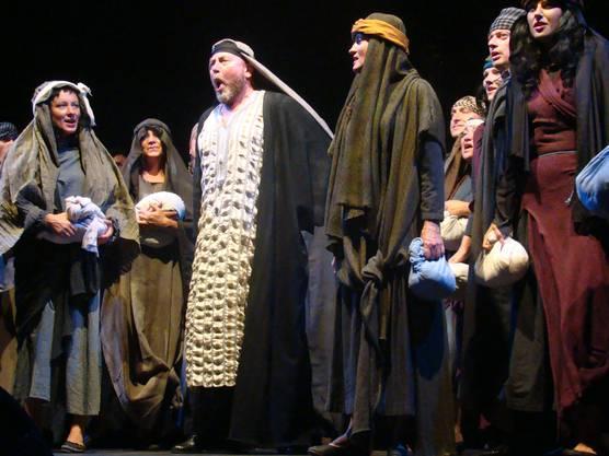 Gefangene Hebräer mit Zaccharias (Mitte)